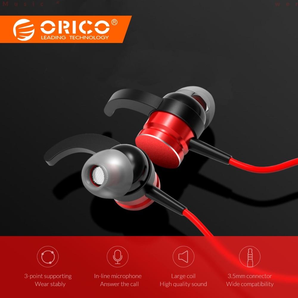 ORICO profesión en la oreja auricular de Auriculares auriculares de deporte Bass auriculares para iPhone 7 8 X Xiaomi oído teléfonos fone de ouvido