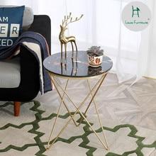 Луи Мода кафе столы современный минималистский мраморный спальня скандинавский диван угловой несколько балкон маленький чай