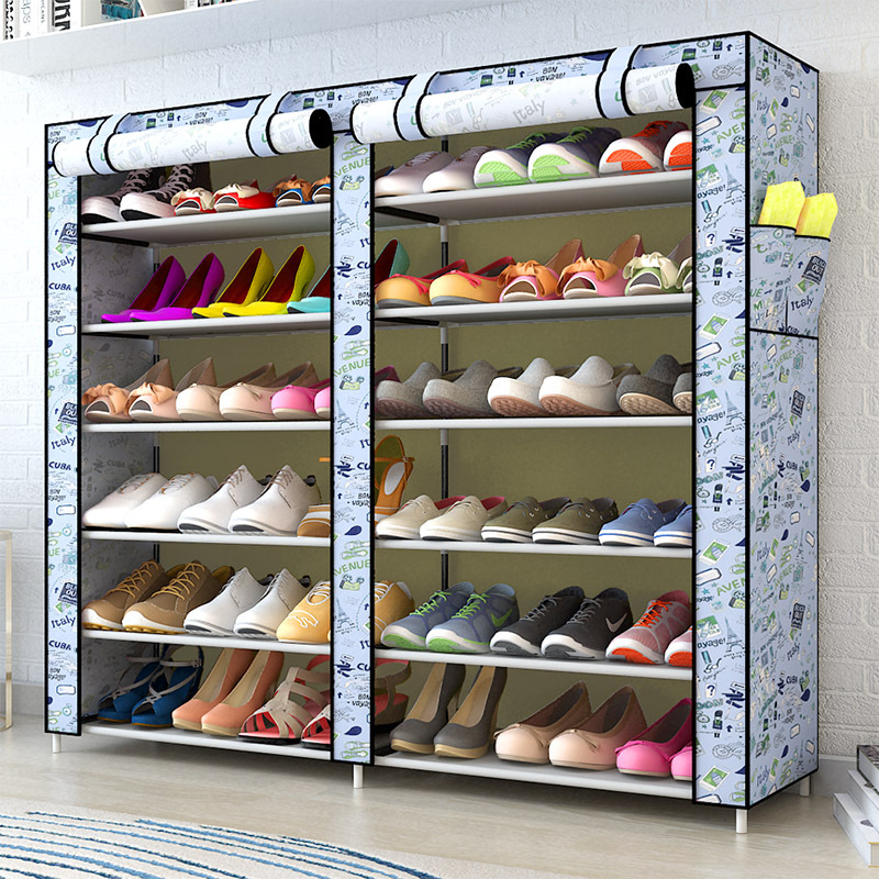 Aliexpress.com : Buy 2018NEW Home Simple Large Capacity Storage Shoe Rack  Dustproof Multilayer Shoe Shelf Cloth Shoe Organizer Cabinet 6 Or 12 Layers  From ...