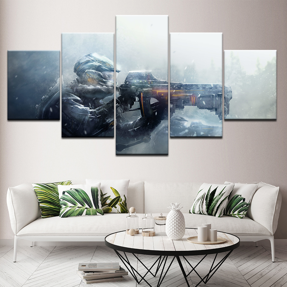 Canvas Painting Gun Gaming 5 Pieces Wall Art Painting Modular Wallpapers Poster Print for living room Home Decor Artwork 1
