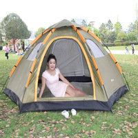 6 Person 240cm*350cm*135cm Camping Tents Waterproof Automatic Tents Climbing Fishing Tents Single Layer Tents