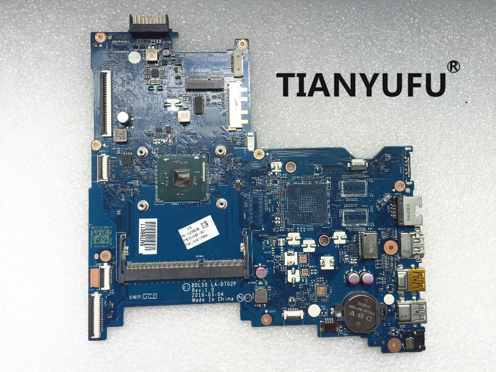 250 G5 motherboard BDL50 LA D702P 854943 601 854943 001 N3710 FOR HP 250 G5 15