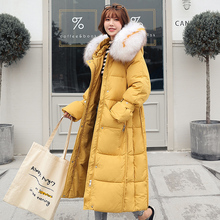 Brieuces Womens Coat Jacket Medium Length Women Parka Big fur collar Winter Thick New Collection Hot