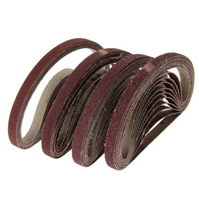 Абразивные шлифовальные ленты, шлифовальная бумага для ленточного шлифовального станка 40 60 80 120 шлифовальный инструмент 13x457 мм