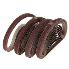 все цены на 40Pcs 13x457mm Abrasive Sanding Belt Grit 40 60 80 120 Belt Sander for Grinding Polishing Sander Tool Power Dremel Accessories онлайн