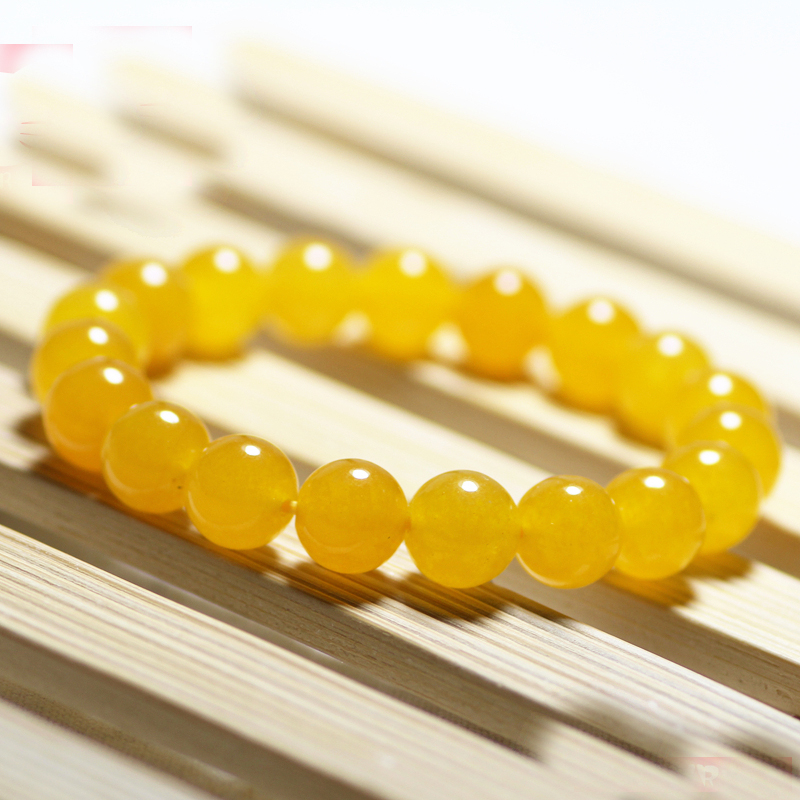 Yellow Smooth Round Beads...