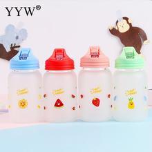 480ml Cute Glass Water Bottle Childeren Cups Sports Water+Bottles For Portable Kids Cup Hydro Flask Bidon Outdoor Bottles