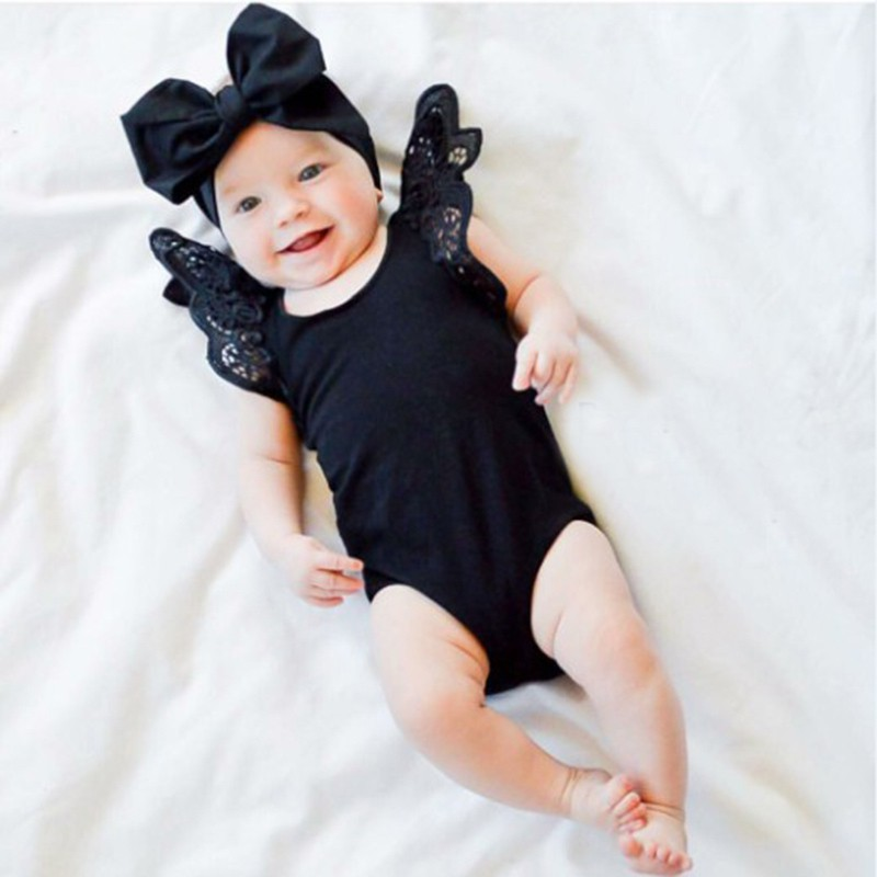 2019 Sleeveless Lace Playsuit Tutu Clothes Baby Girl Bodysuit Long Sleeve Girl Summer Clothes New Born Body Baby Ropa Baby Bodys