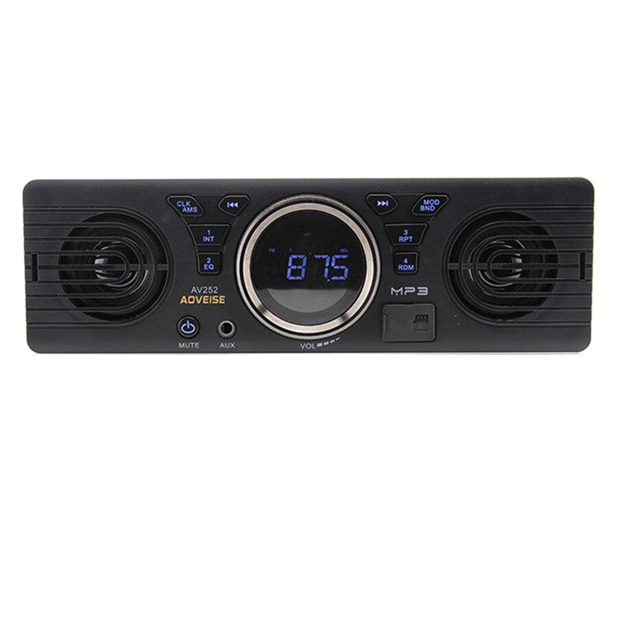 1DIN autoradio stéréo lecteur Audio intégré 2 haut-parleurs Durable voiture MP3 lecteur Radio Support USB/TF/AUX/FM récepteur