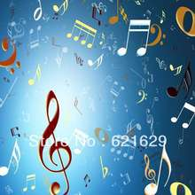Melodious music 8'x8′ CP Computer-painted Scenic Photography Background Photo Studio Backdrop ZJZ-300