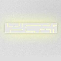 Nowoczesne 40 cm-62 cm długi aluminiowy LED lampy ścienne do salonu łazienka jako dekoracji kinkiet światła 90- 260 V lamparas de pared