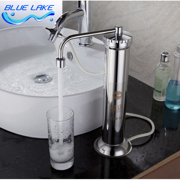 Stainless Steel Faucet Mounted Water Purifier Descaling Easy To Install Super Filter Safe