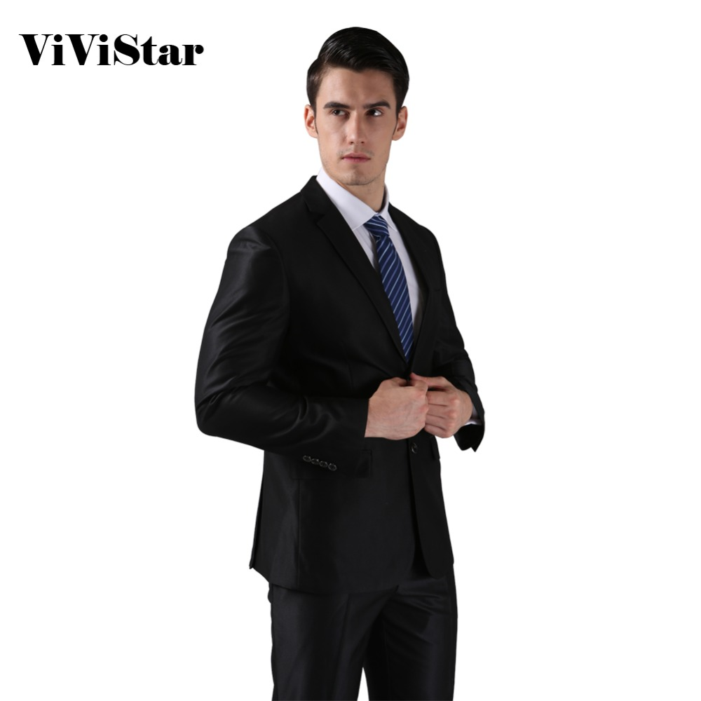 (Jackor + Byxor) 2016 Nya män passar Slim Custom Fit Smoking varumärke Fashion Bridegroon Business Dress Bröllop Passar Blazer H0285