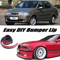 Bumper Lip Deflector Lips For Fiat Albea / Siena 2002~2012 Front Spoiler Skirt For Tuning / Body Kit / Strip