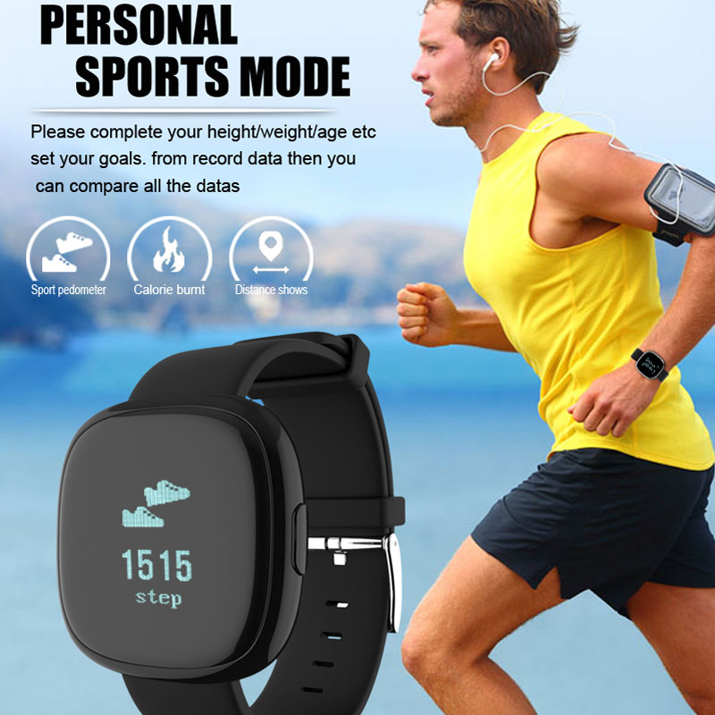 Chycet Smart Band P2 Heart Rate Monitor Smart Bracelet Pedometer Fitness Tracker Blood Pressure Watch Smartband for Android IOS