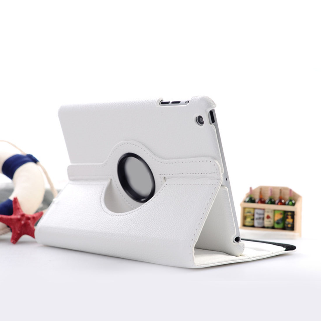 Centechia New Arrival For Apple Ipad Air Tablet Case 360 Degree Rotating Pu Leather Stand Flip Folio Screen Prot