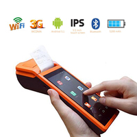 Free Shipping!Handheld SUMI V1s Touch Screen Android Terminal GPRS 58mm POS Thermal Printer