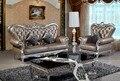Diseñador estilo moderno top graduado cuero de vaca genuino esquina sofá de la sala set suite muebles para el hogar sofá chesterfield 1 + 3 asiento