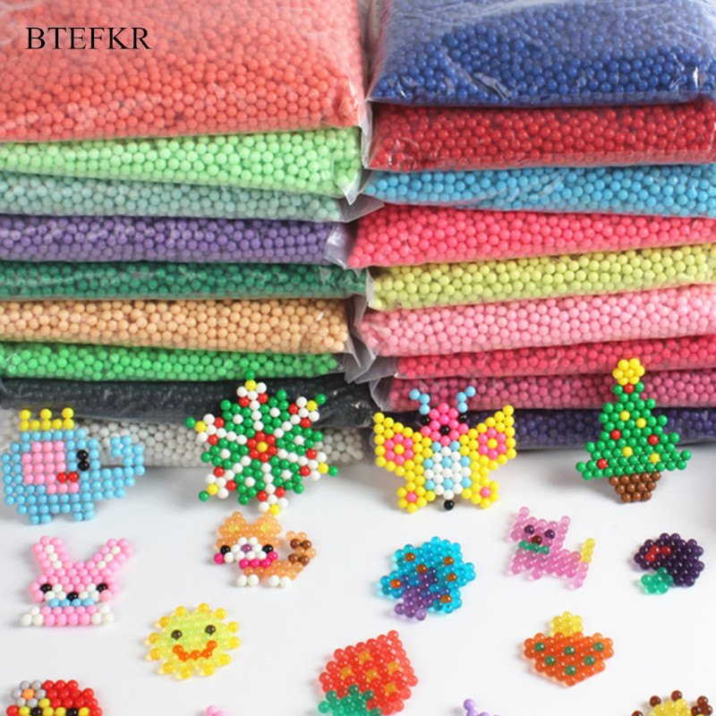 28 Colors Beads Puzzle 3d Educational Toys For Children Water Spray Beads Speelgoed Jigsaw Puzzles Toy Juguetes 100PCS/Bag