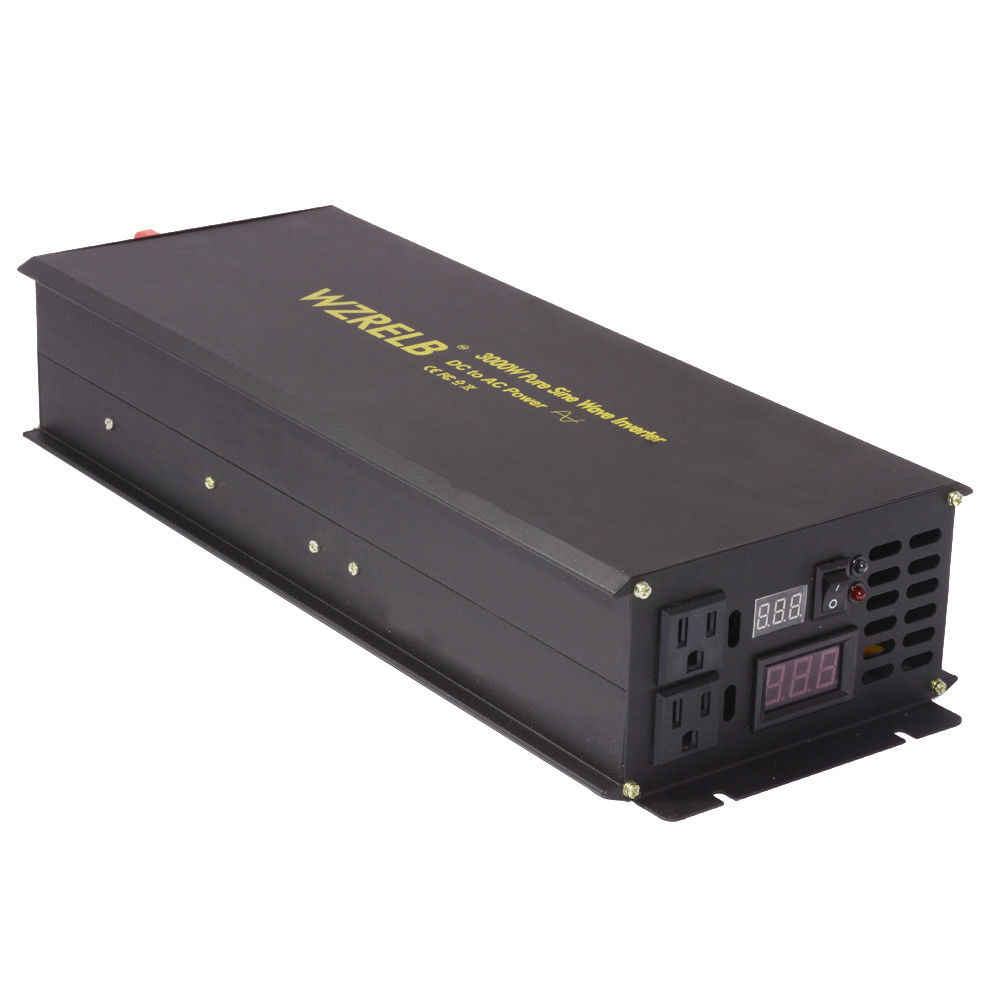Saf Sinüs Dalgası Güneş Invertör 24 V 230 V 3000 W araba güç invertörü Pil Güç Kaynağı DC AC dönüştürücü 12 /48 V için 120 V/220 V/240 V