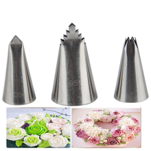 hot deal buy 3pcs leaf tips icing piping set cakes decoration stainless steel nozzles cream pastry tools bakeware