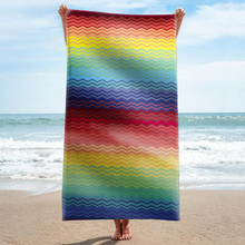 GNORRIS Sand Free Microfiber Pool Rainbow stripes Beach Towel Blanket - Quick Dry Super Water Absorbent Yoga mat