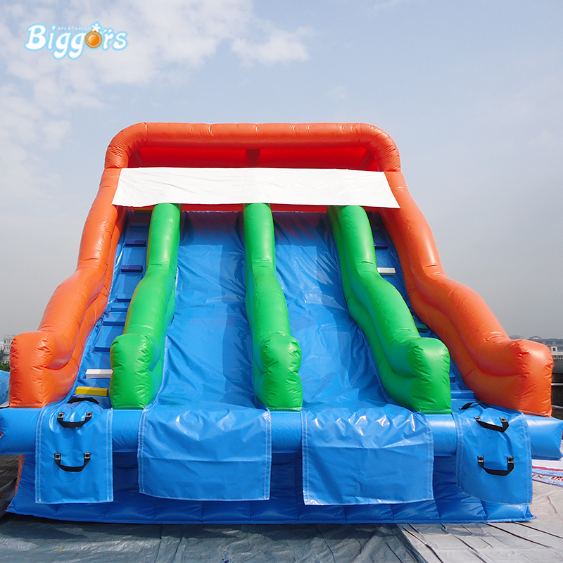 цены на Commercial PVC Inflatable Pool Slide Double Lane Water Slide Karting Pool For Sale