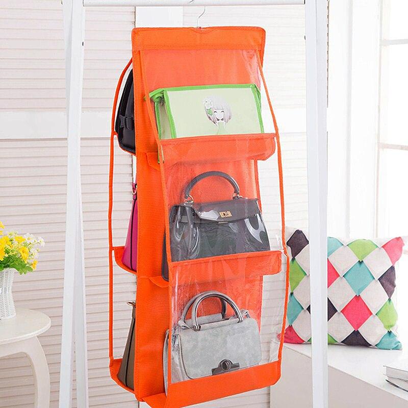 1 шт. Новый 6 Цвета 6 карман нетканые рюкзак сумки обувь гардероб Вешалки хранения сумки товары для дома