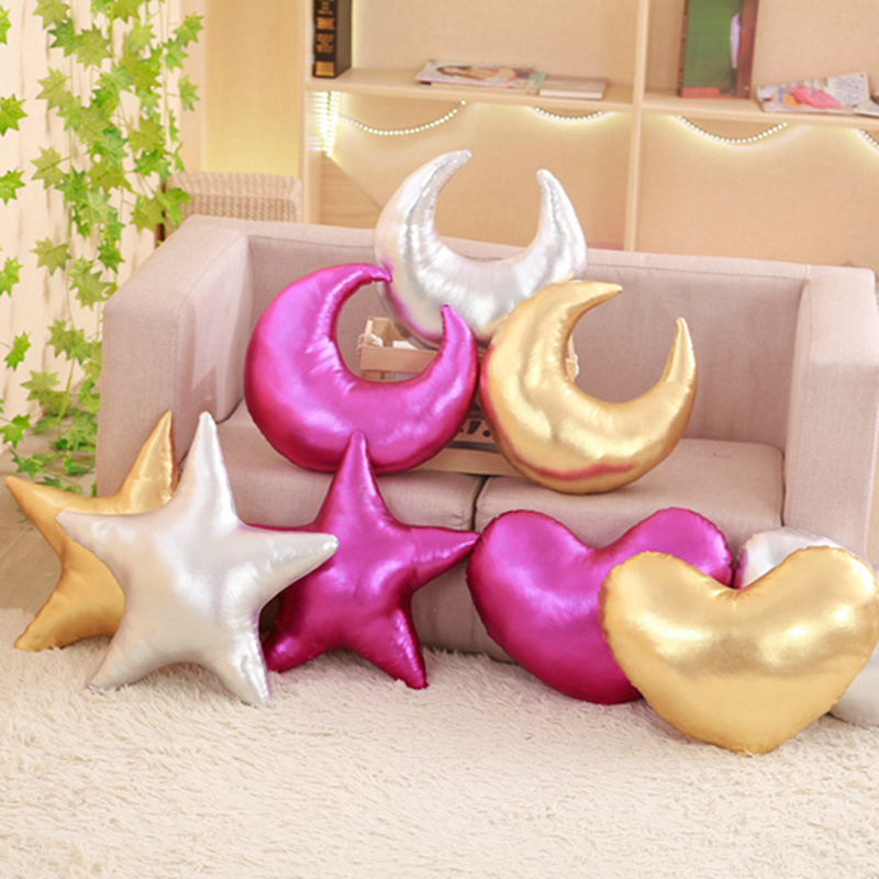 Soft Shining Sky Series Pillow Stuffed Moon/Star /Heart Plush Toys Soft Cushion Nice Sofa Pillow Kawaii Christmas Gift For Girl