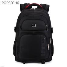 """Poesechr Для мужчин рюкзак Бизнес Оксфорд 15.6 """"Для мужчин сумка для ноутбука большой Ёмкость НОВЫЙ туристический рюкзак Колледж студент Школьные сумки"""