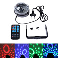 2016 Home Entertainment and Professional Stage  LED RGB Crystal Magic Ball Effect Lights Party Lighting with Remote Controller