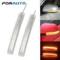 2 pçs led carro transformar a luz do sinal espelho retrovisor indicador lâmpada suave piscando fpc amarelo 9 smd âmbar fonte de luz universal