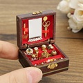 1:12 Scale Cute Dollhouse Miniature Filled Wooden Jewelry Box Bedroom Toys Doll toys Kids Toys Gifts