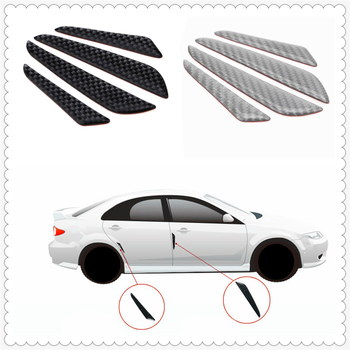 4 pcs car shape carbon fiber bumper door edge anti-collision strip for BMW all series 1 2 3 4 5 6 7 X E F-series E46 E90 F09 image
