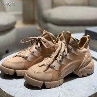 2019 г. модная женская повседневная обувь открытые летние дышащие вулканическая обувь из натуральной кожи кроссовки эластичная обувь женски