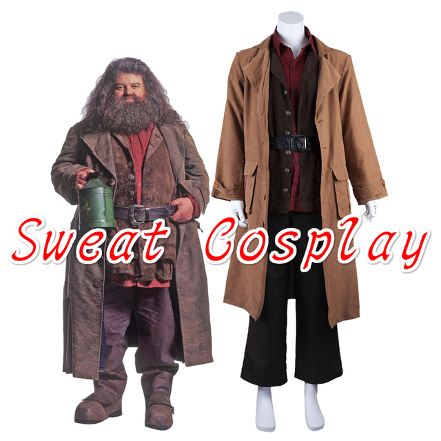 high quality professor rubeus hagrid cosplay costume halloween costumes for adult magical wizard hogwarts school cosplay