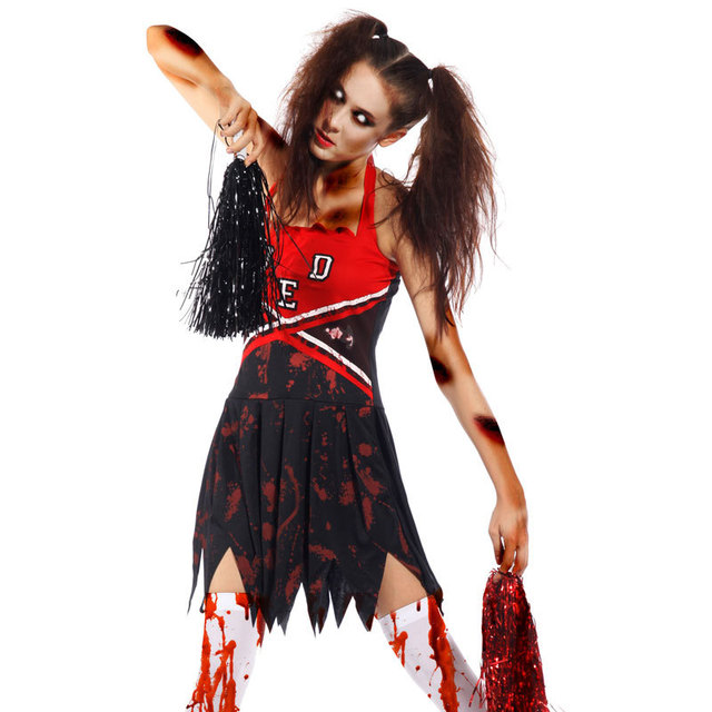 Sexy Ladies Cheerleader Bloody Zombie Costume Fancy Dress  sc 1 st  AliExpress.com : cheerleader zombie costumes  - Germanpascual.Com