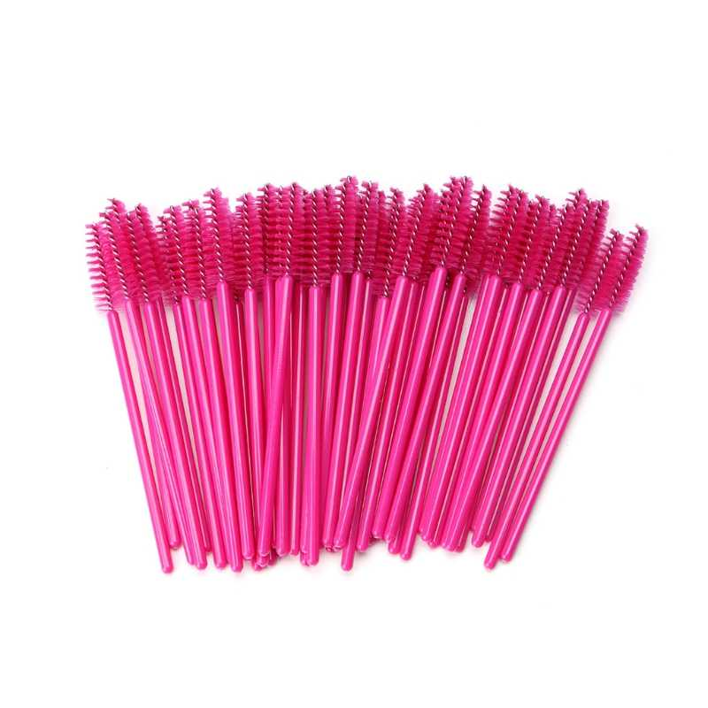 50Pcs Mini Eyelash Disposable Mascara Wand Applicator Brush Extension Makeup Set