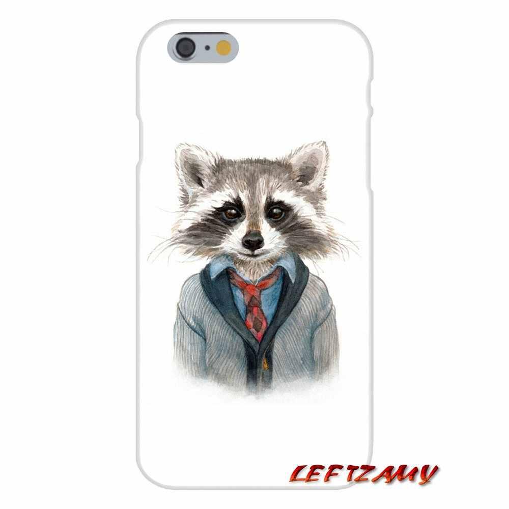 For Samsung Galaxy A3 A5 A7 J1 J2 J3 J5 J7 2015 2016 2017 Accessories Phone Shell Covers fashion Raccoon Art Print