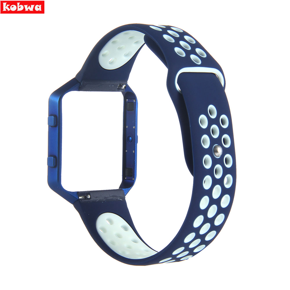 For Fitbit Blaze Band Silicon Bracelet Replacement Strap with Metal Frame for Fitbit Blaze Smart Fitness