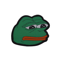 Internet Memes Sad Pepe Frog Patches Embroidery(China)