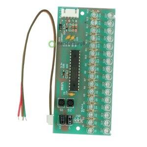 Image 2 - MCU 調節可能な表示パターン LED VU レベルメーターインジケータオーディオアンプ 16 LED デュアルチャンネルグリーンライトランプ DC 8 に 12 V