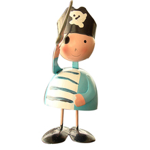 4pc/lot Metal Pirate Model Miniature Crafts Home Decor Accessories Birthday Gift Figurines Decoration The Most Fun Toy