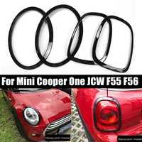 4Pcs/Set Car Headlight Head Tail Rear Lamps Rim Trim Ring Covers For Mini Cooper One JCW F55 F56 Car styling Accessories