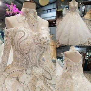 Image 2 - AIJINGYU düğün elbisesi rusya federasyonu nişan abiye seksi kadınlar için en iyi tasarımcılar kraliçe kıyafeti artı boyutu gelin elbiseleri 2021