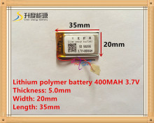 Cung cấp pin lithium polymer 502035 3.7 V 052035 400 MAH MP3 MP4 MP5 pin bluetooth pin tai nghe(China)