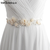 TOPQUEEN FREE SHIPPING S323 I New Arrivel Beaded Flowers Wedding Belts Wedding Sashes Pearls Bridal Belts