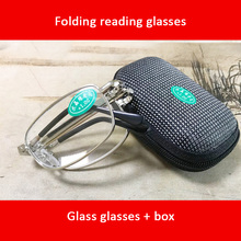 Folding Reading Glasses Glass lenses New Resin WITH BOX Foldable Presbyopia +1.00 1.50 2.00 2.50 3.00 3.50 4.00 Diopter s06