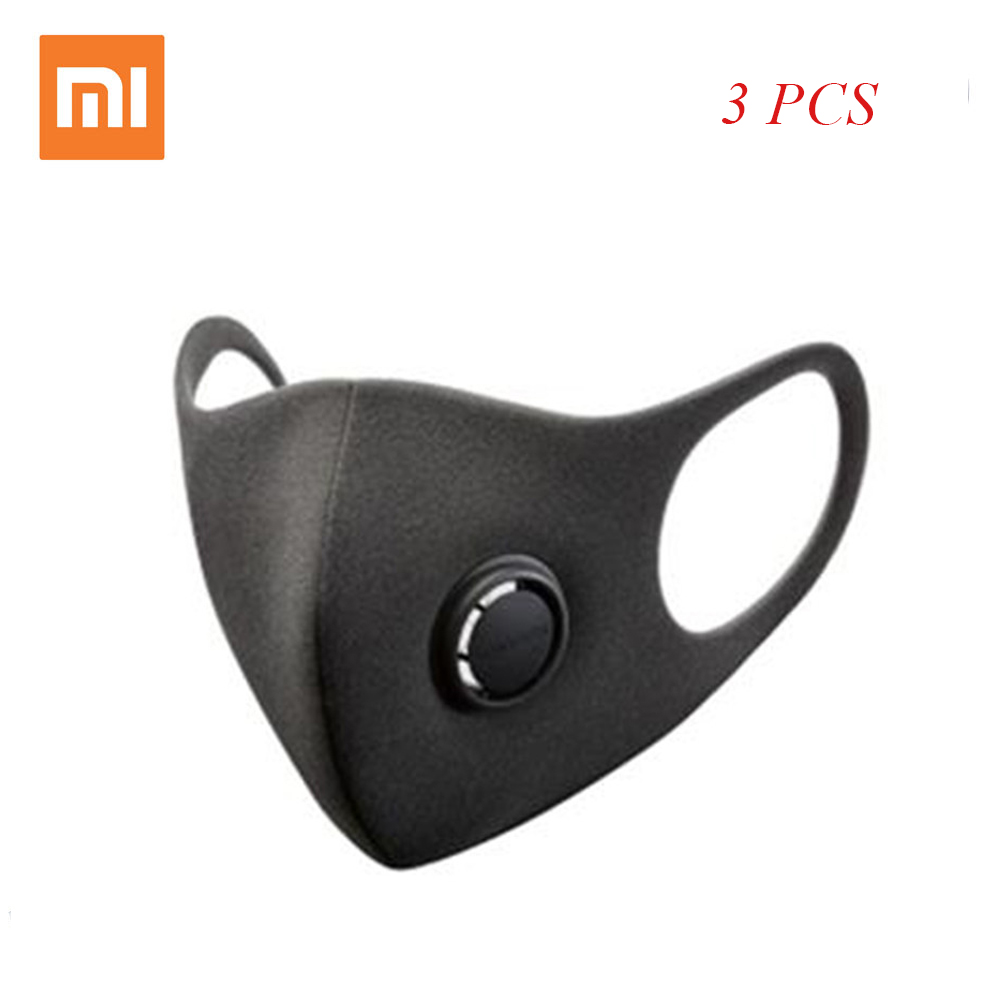 3 PCS Xiaomi Mijia Smartmi Filter Mask Block 97% PM 2.5 with Ventilating Valve Ear Wearing Face Mask for Adult