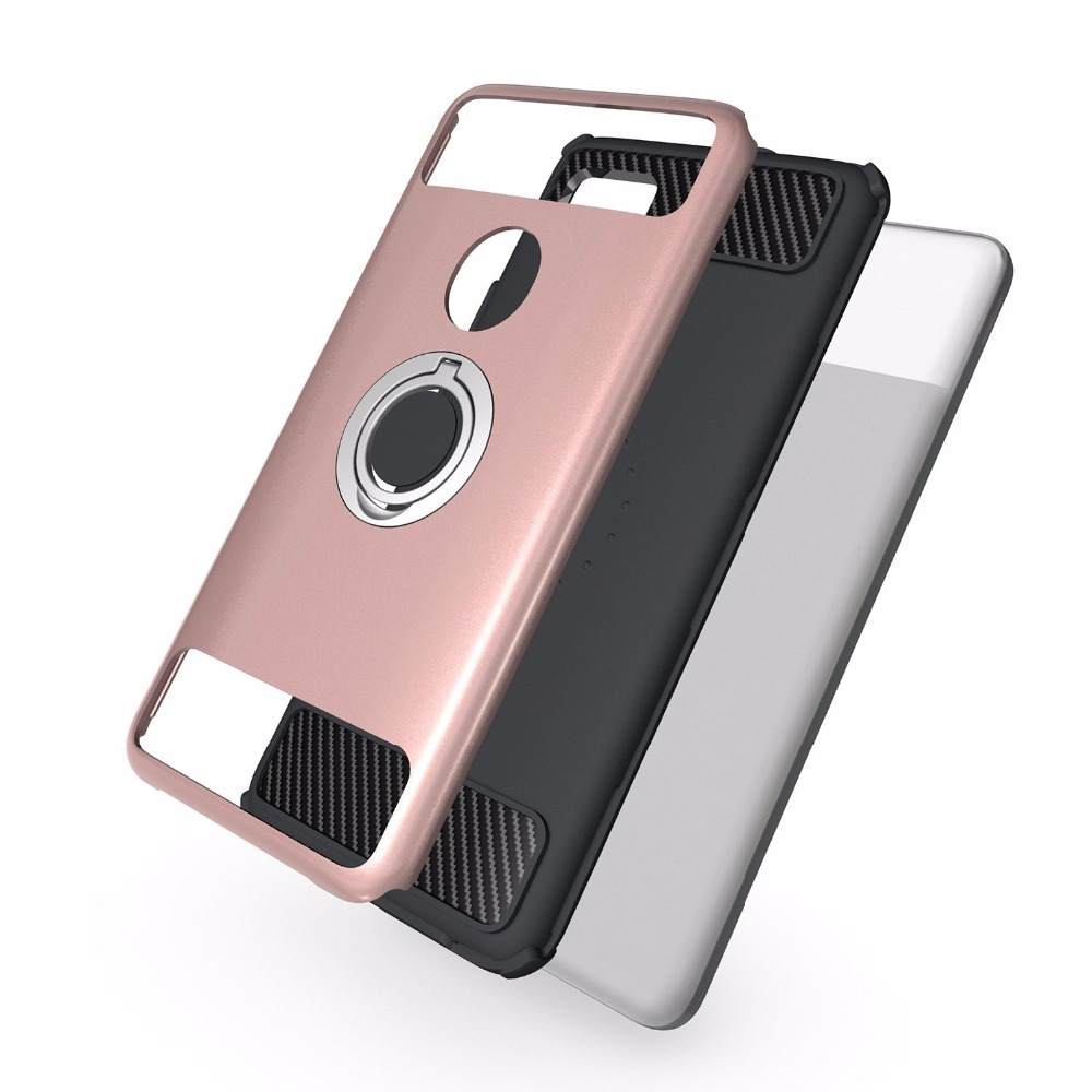 Back Cover Google Pixel 2 / 2 XL Anti-Knock Magnetic Adsorption 2 In 1 Design Kickstand With Finger Ring
